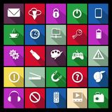 Flat Vector Icon Set. This is file of EPS10 format Stock Image