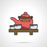 Flat vector icon for tea time Royalty Free Stock Image