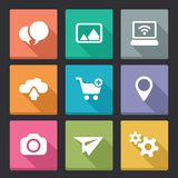 Flat vector icons Stock Photo