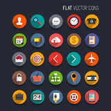 Flat Vector Icons Royalty Free Stock Photo