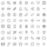 64 Flat Vector Icons Stock Photo