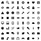 64 Flat Vector Icons for Web Business and Social Stock Image