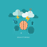 Flat vector illustration concept for graphic. Flat vector illustration concept for brainstorming. Design elements for web and mobile applications, infographics Vector Illustration