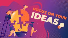 Flat Vector Illustration Focus on Your Ideas. vector illustration