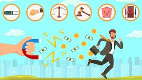Flat Legal Assistance in Dealing with Debtors. stock illustration