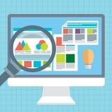 Flat vector illustration of web analytics information  Stock Image