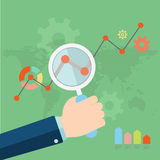 Flat vector illustration of web analytics Royalty Free Stock Photography