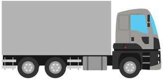 Flat vector isolated truck vehicle royalty free illustration