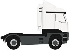 Flat vector isolated truck vehicle vector illustration