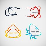 Flat vector line dialog design color elements Royalty Free Stock Photography