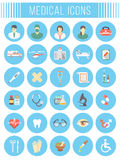 Flat vector medical and healthcare icons Royalty Free Stock Photos