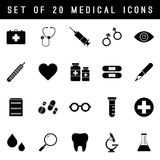 Flat Vector Medical Icon Set Stock Photos