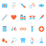 Flat Vector Medical Icon Set Royalty Free Stock Photos
