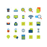 Flat vector mobile web app interface icon pack Royalty Free Stock Images