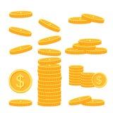 Flat vector money icons Stock Image