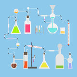 Flat vector science laboratory  tubes Royalty Free Stock Photos