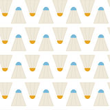 Flat Vector Seamless Pattern Sport Badminton Shuttlecocks Royalty Free Stock Images