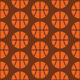 Flat Vector Seamless Sport and Activity Basketball Pattern Stock Photography