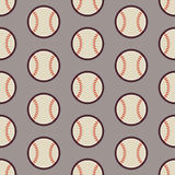 Flat Vector Seamless Sport and Recreation Activity Baseball Patt Stock Photography