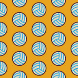 Flat Vector Seamless Sport and Recreation Activity Volleyball Pa Royalty Free Stock Photo