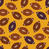 Flat Vector Seamless Sport and Recreation American Football Patt Stock Images