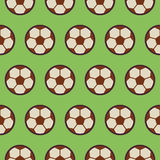 Flat Vector Seamless Sport and Recreation Pattern Football Stock Image