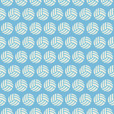 Flat Vector Seamless Sport and Recreation Volleyball Pattern Royalty Free Stock Photo