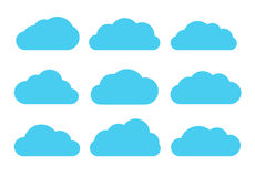 Flat vector set of clouds Stock Photos