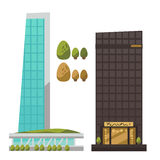 Flat vector set of modern urban architecture. Stock Photography