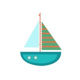 Flat vector of the ship. Simple flat icon of the  boat Royalty Free Stock Photography