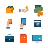 Flat vector site interface: shopping, payment, business icon Royalty Free Stock Image