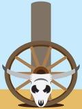 Flat Vector Steer Skull Royalty Free Stock Image