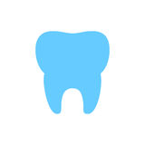 Flat Vector Tooth Icon Stock Images
