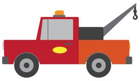 Flat Vector Tow Truck Royalty Free Stock Images