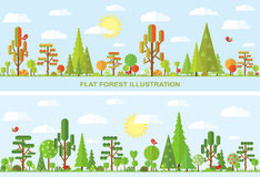 Flat vector tree illustration Stock Photos