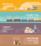 Flat vector web banner. Logistics. part 2 Royalty Free Stock Image