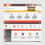 Flat Vector website template for business Stock Photo