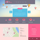 Flat vector website template Royalty Free Stock Image