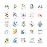 Flat vectors of business and marketing stock illustration
