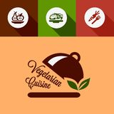 Flat vegetarian cuisine design elements Stock Photography