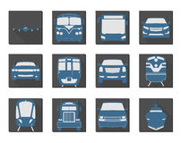 Flat Vehicle Icons Stock Photo