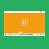 Flat video player Stock Photo