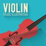 Flat violin guitar vector background concept Stock Photos