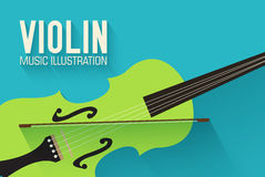 Flat violin guitar vector background concept Royalty Free Stock Photography