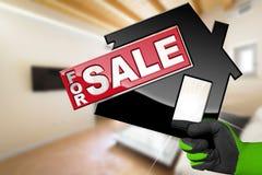 Flat voor Verkoop - ModelHouse Royalty-vrije Stock Foto's