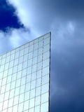 Flat wall on a sky. Flat wall of a business building with sky in a background royalty free stock photos
