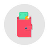 Flat wallet icon Royalty Free Stock Images