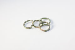 Flat Washer and Spring Washer. For industry and manufacturing Royalty Free Stock Photos