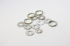 Flat Washer and Spring Washer. For industry and manufacturing Stock Image