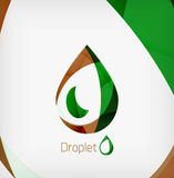 Flat water drop geometric shape concept Stock Images